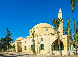 foto of larnaca  - Hala Sultan Tekke complex is composed of a mosque mausoleum minaret cemetery and living quarters for men and women Larnaca Cyprus - JPG