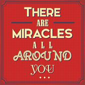 picture of miracle  - Conceptual Advice Poster with a Idea - JPG