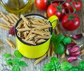 picture of pasta  - wholemeal pasta - JPG