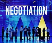 image of negotiating  - Negotiation Compromise Contract Agreement Decision Concept - JPG