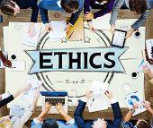 stock photo of integrity  - Ethics Integrity Fairness Ideals Behavior Values Concept - JPG