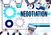 pic of negotiating  - Negotiation Compromise Decision Contract Benefit Concept - JPG
