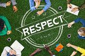 image of respect  - Respect Honesty Honorable Regard Integrity Concept - JPG