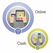 picture of payment methods  - Vector illustration concepts of payment methods - JPG