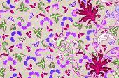 stock photo of batik  - batik sarong pattern background in Thailand traditional batik sarong in Asian - JPG