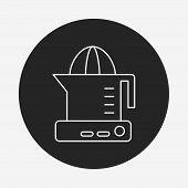 image of juicer  - Juicer Line Icon - JPG