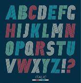 picture of funky  - Retro stripes funky fonts set trendy elegant retro style design - JPG