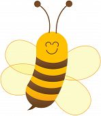 pic of sting  - Cute baby bee with yellow body - JPG