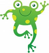 picture of enthusiastic  - Friendly baby frog with yellow spots - JPG