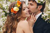 foto of bow tie hair  - Wedding couple - JPG