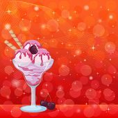 foto of ice cream sundaes  - Food - JPG