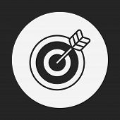 stock photo of archery  - Archery Icon - JPG