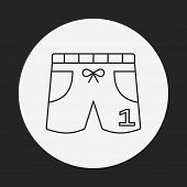 picture of black pants  - Training Pants Line Icon - JPG
