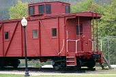 pic of caboose  - this is an old caboose on display from an old train - JPG