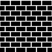 image of stonewalled  - Black brick wall seamless pattern - JPG