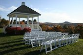 autumn wedding setting