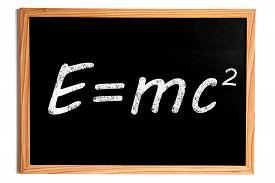 stock photo of einstein  - Einstein Energy Formula E - JPG