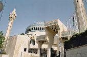 pic of mosk  - the biggest mosque of jordan in amman