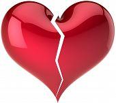 Broken heart shape classic