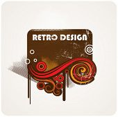 Abstract retro element for design.