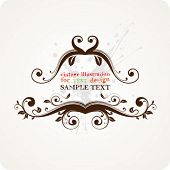 Abstract vector frame for design.