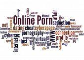 Online Porn, Word Cloud Concept 2 poster