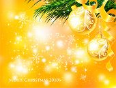 Christmas gold vector illustration