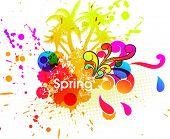 Spring or summer vector illustration