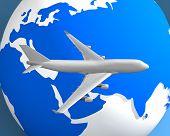 Plane Globe001