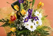 stock photo of flower arrangement  - bunch of flowers - JPG