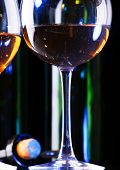 wine in the glass