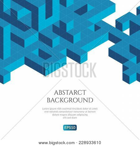 Abstact Background In Isometric Style