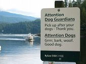 Sign For Dogs