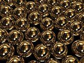 Huge gold spheres