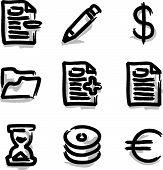 Web icons marker contour various