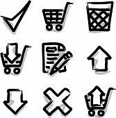 Web icons marker contour shop