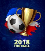 Beautiful Design Template Mock Up Football 2018 World Championship Tournament Soccer League. Soccer  poster