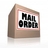 Mail Order Shipping Cardboard Box Delivery 3d Illustration poster