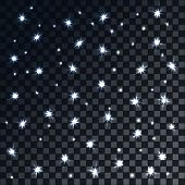 Festive Flash Background With Bokeh And Stars, Vector Illustration. New Year Flash poster