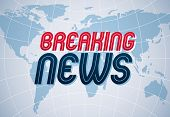 Breaking News Vector Background, World News Tv Or Internet Channel Translation, Illustration With Wo poster