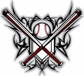 pic of fastpitch  - Graphic of a Baseball Bats - JPG