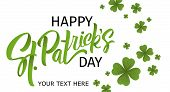 Happy St. Patricks Day Banner.  Illustration Of A Beer Mug With Lettering St. Patricks Day. Beer P poster