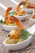 Spicy Shrimps Guacamole