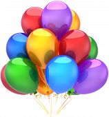 Party balloons birthday decoration multi colored