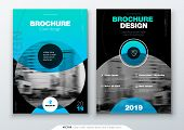 Brochure Template Layout, Cover Design Annual Report, Magazine, Flyer Or Booklet In A4 With Color Ci poster