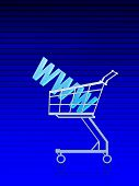 Domain Address/internet Buy. Blue Lined Background