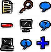 Web icons marker colour contour misc
