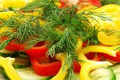 Cutted Pepper And Dill