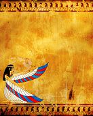 image of isis  - Wall with Egyptian goddess image  - JPG