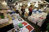 Tsukiji-Fischmarkt, tokyo